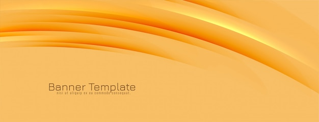 Abstract modern wavy lines banner design