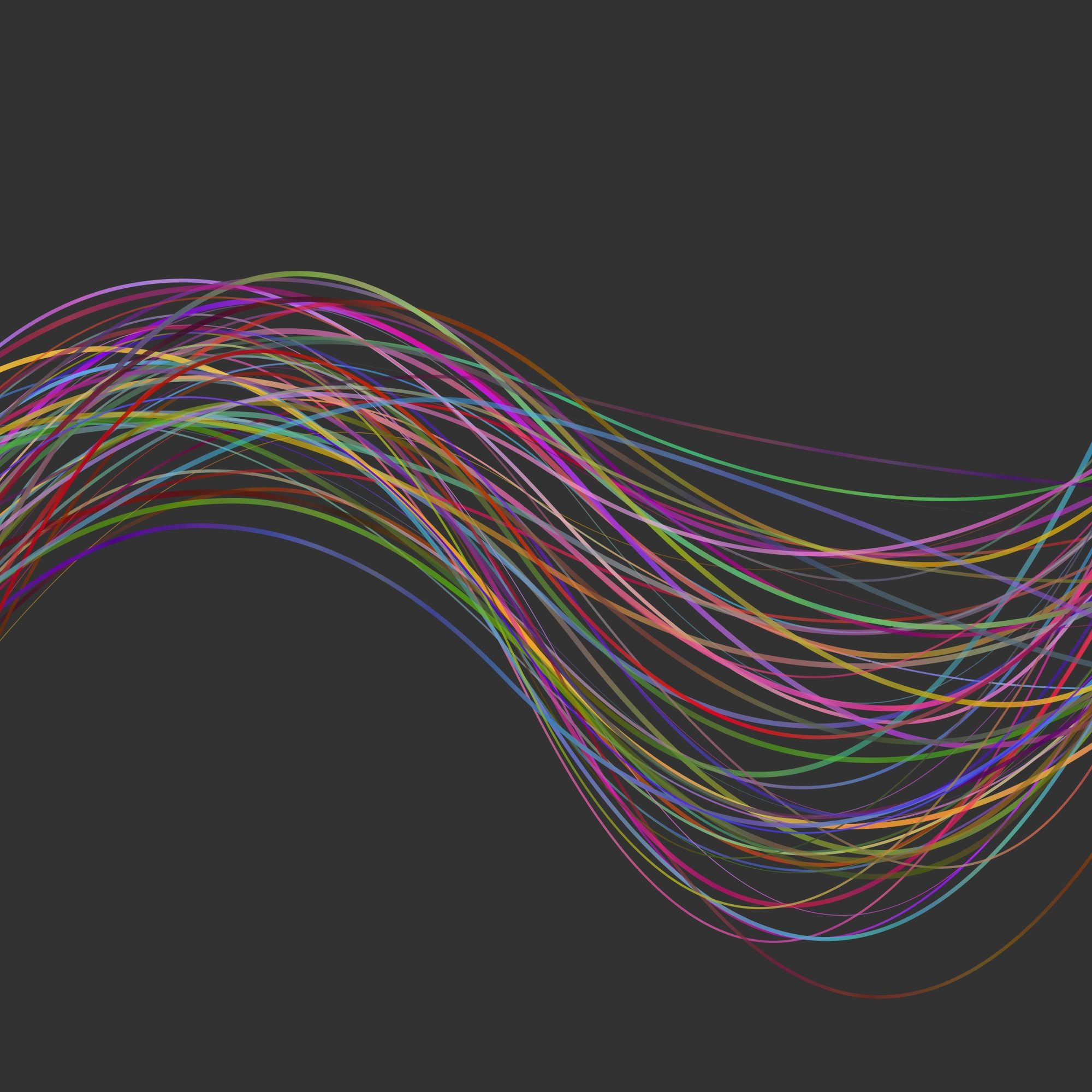 Abstract modern wavy stripe background - vector graphic design from colorful curved wave lines
