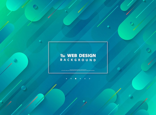 Abstract modern web page design of minimal geometric vibrant colorful background