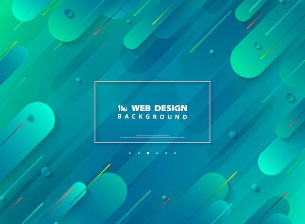 最小限の幾何学的な活気に満ちたカラフルな背景の抽象的な現代的なウェブページのデザイン