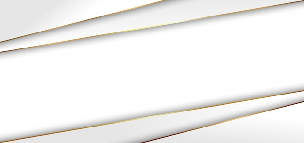 Abstract modern white triangle background golden line