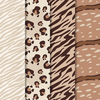 Abstract modern wildlife fur pattern