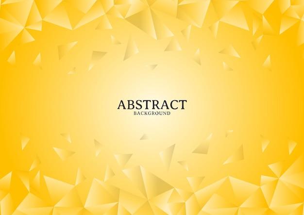 Абстрактный современный желтый хаотический многоугольный дизайн фона, хаотический многоугольный дизайн фона