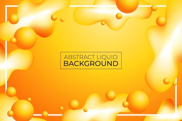 抽象的なモダンな黄色の液体波の背景