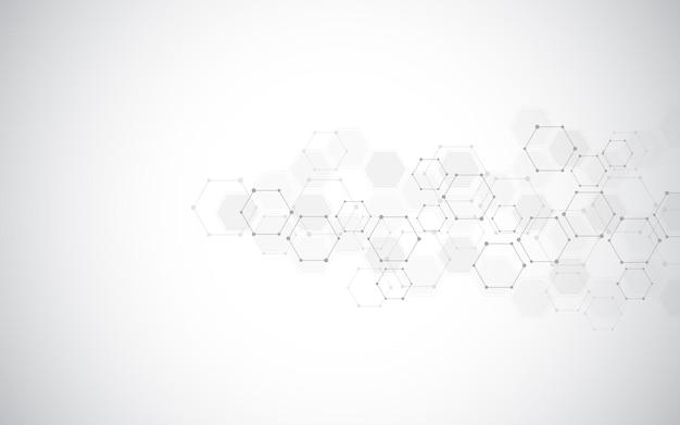 추상 분자 배경