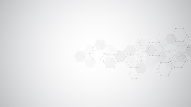 Abstract molecules background.