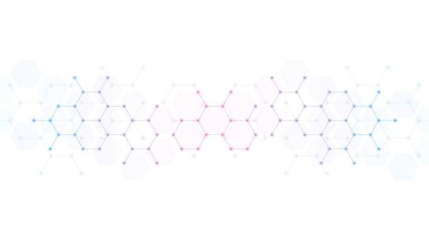 抽象的な分子の背景
