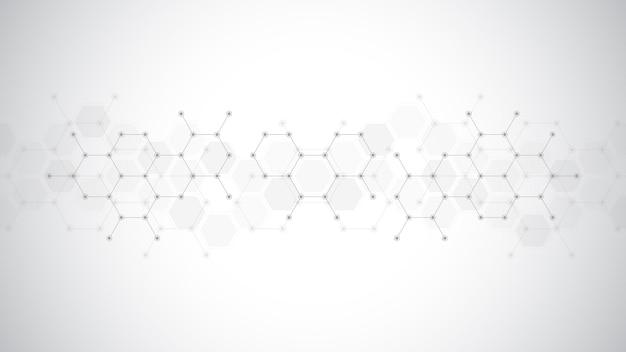 추상 분자 배경입니다.