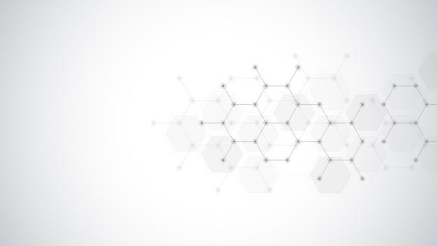 추상 분자 배경 프리미엄 벡터
