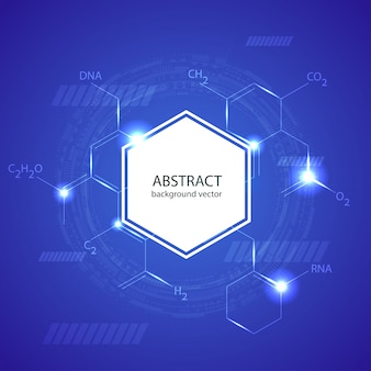 Abstract molecules medical background concept template design