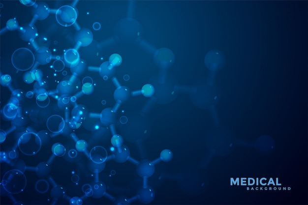 Abstract molecules medical science background