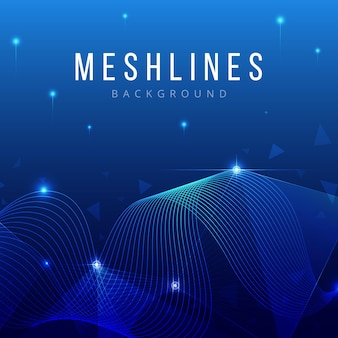 Abstract molecules and mesh lines background