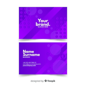 Abstract monochromatic business card template pack