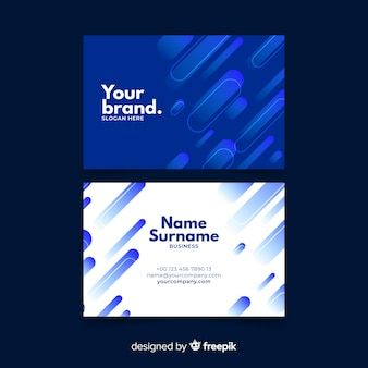 Abstract monochromatic business card template set