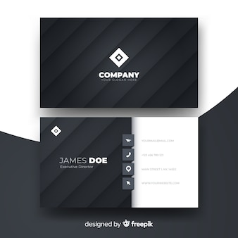 Abstract monochromatic business card template