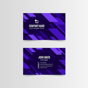 Abstract monochromatic template business card