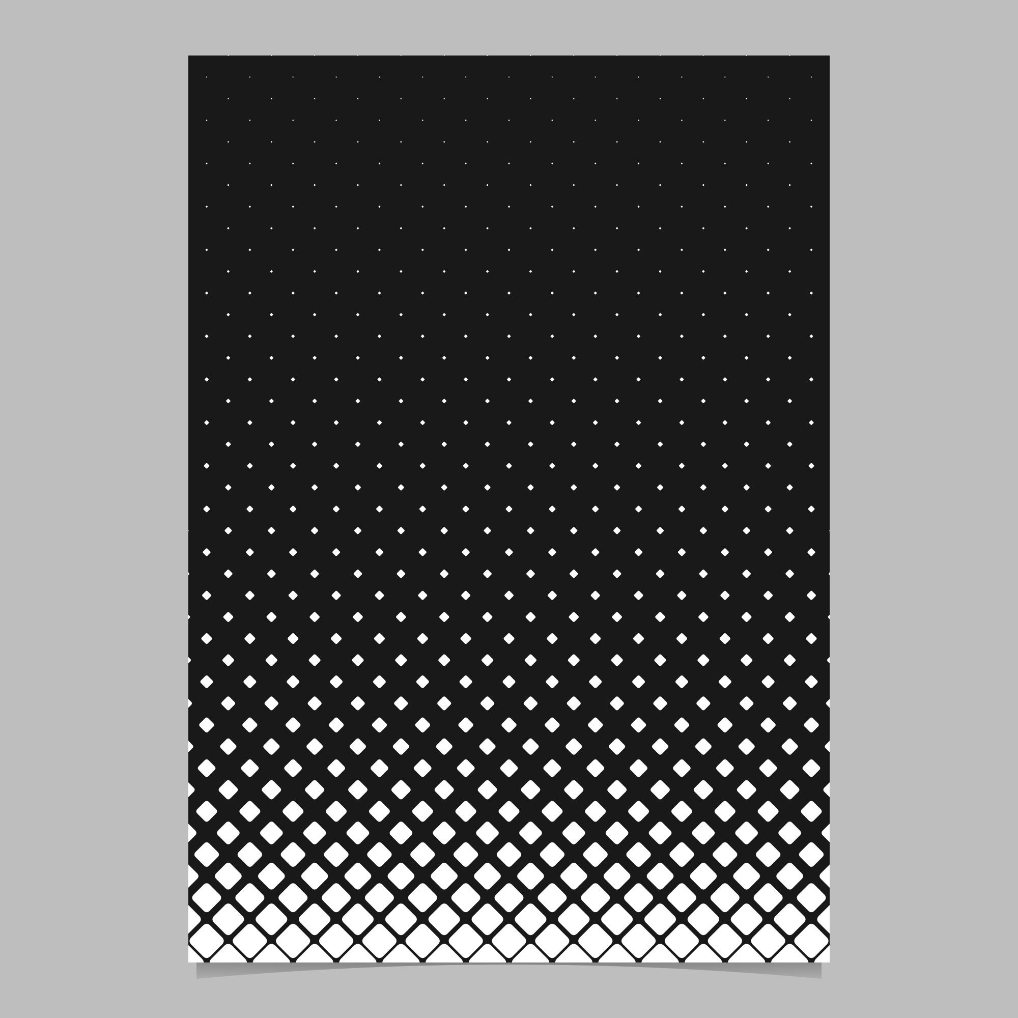 Abstract monochrome diagonal square grid pattern page template - black and white vector brochure background design
