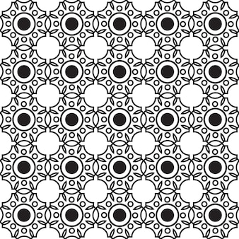 Abstract monochrome seamless pattern with connected repeating geometric structure in minimalistic style illustration