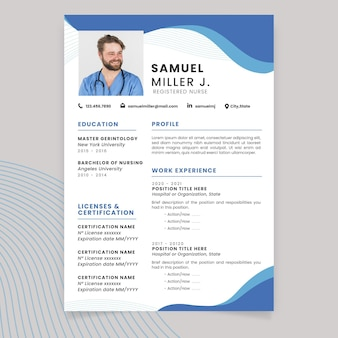Abstract monocolor medical resume