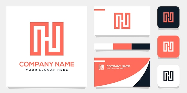 Abstract monogram ghg logo background template, business card design