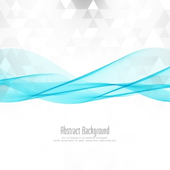 Abstract mosaic background with blue wave