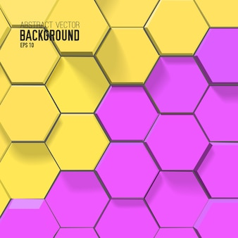 Abstract mosaic background with colorful connected hexagons