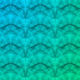 ターコイズ色の図の幾何学的形状と繰り返し構造の抽象的なモザイクオーバーレイ