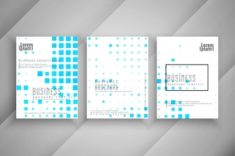 Abstract mosaic pattern Business brochure template set
