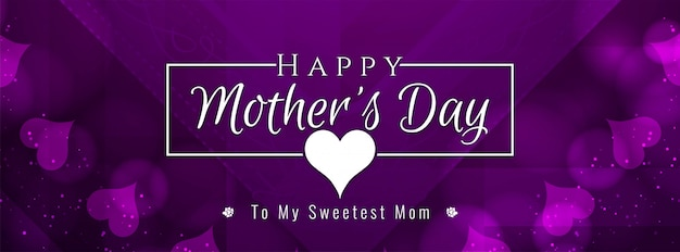 Abstract mother's day banner