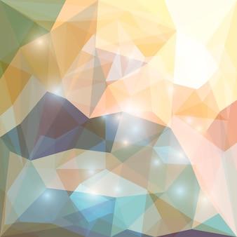 카드, 초대장, 포스터, 배너, 현수막 또는 빌보드 표지 디자인에 사용할 수 있는 밝은 눈부신 조명이 있는 추상 잡색의 부드러운 색 다각형 벡터 삼각형 기하학적 배경