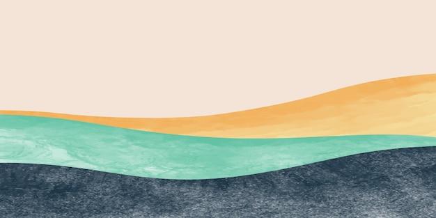 Абстрактный горный пейзаж, природный ландшафтный фон. креативный минималист.