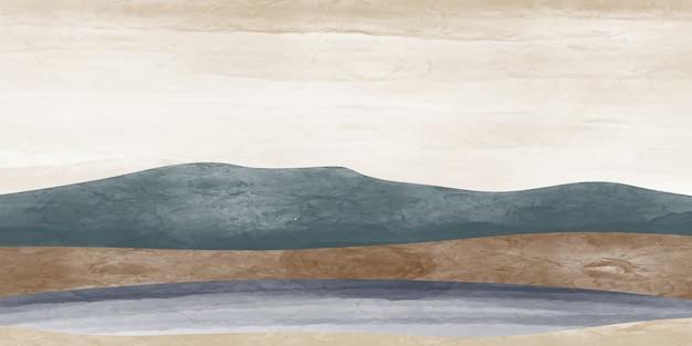 Абстрактный горный пейзаж, природный ландшафтный фон, минималистский.