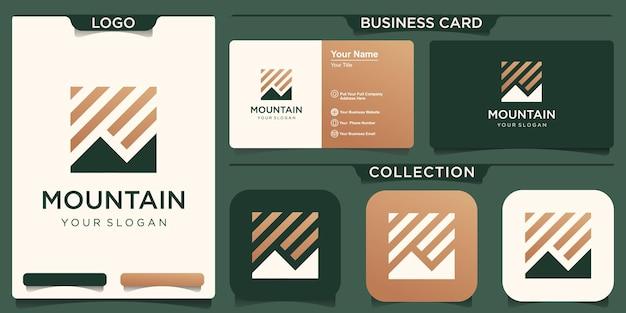抽象的な山のロゴ。