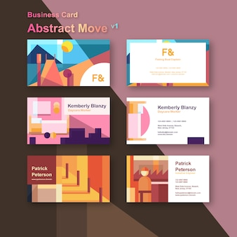 Abstract move business cards template
