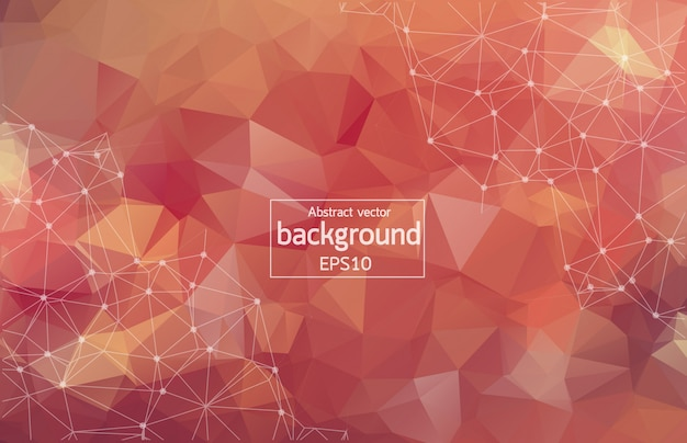 Abstract multi red geometric polygonal background