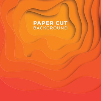 Abstract multicolor background with realistic paper cut layers