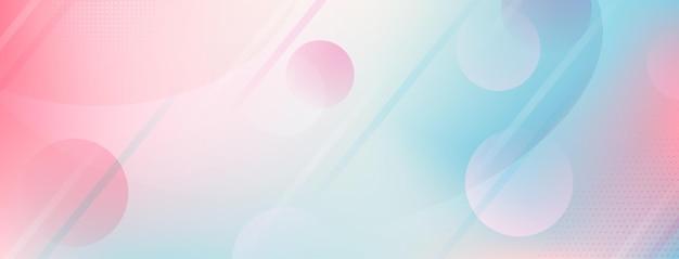 点、線、円で抽象的な色とりどりの背景