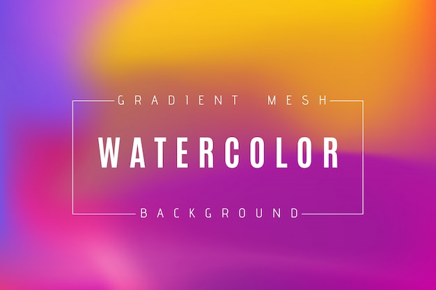 Abstract multicolored bright gradient mesh background.