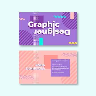 Abstract multicolored business card