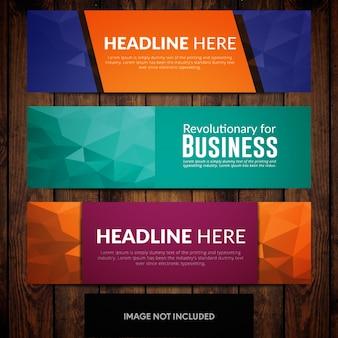 Абстрактный многоцветный шаблон для корпоративного баннера