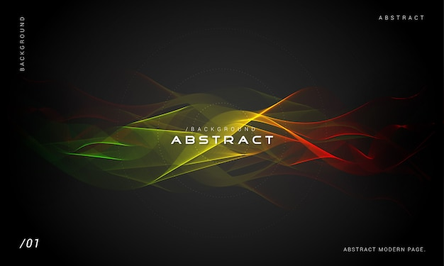 Abstract multicolored smoke wave background