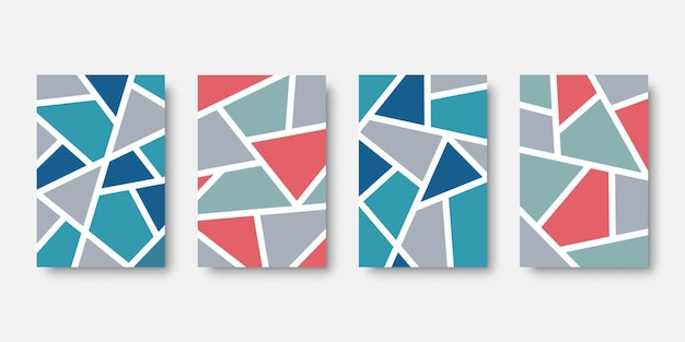 Abstract mural wall art collection