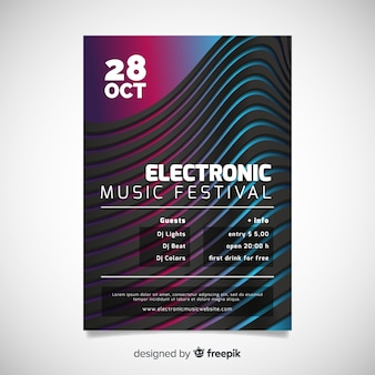 Abstract muscic poster template