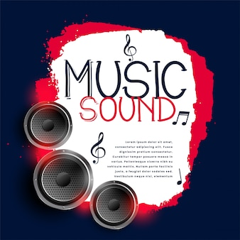 Abstract music background with three speakers
