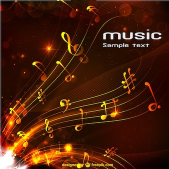 Abstract music background Premium Vector