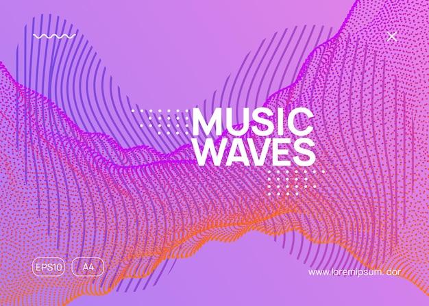 Абстрактная музыка. динамическая плавная форма и линия. минимальный дизайн баннера шоу. флаер абстрактной музыки. техно dj party. электро-танцевальное мероприятие. электронный транс-звук. клубный плакат.