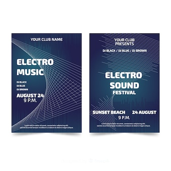 Abstract music festival poster templates