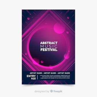 Abstract music festival poster
