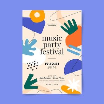 추상 음악 축제 인쇄 템플릿