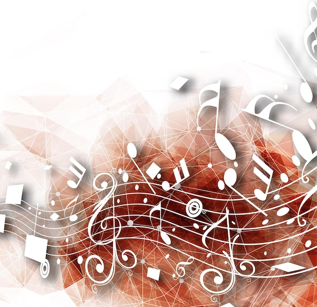 Abstract music notes design for music background use vector illustration
